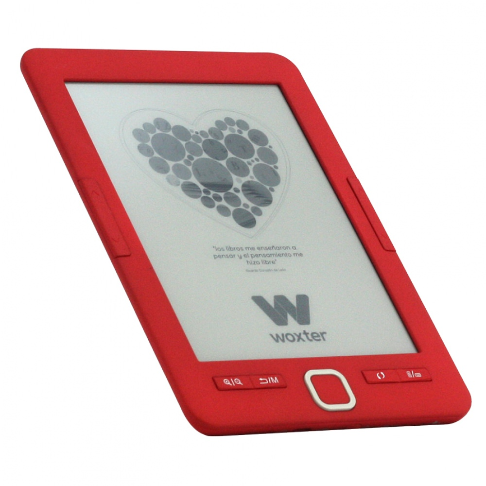 E-BOOK WOXTER SCRIBA 195 6 4GB E-INK ROJO