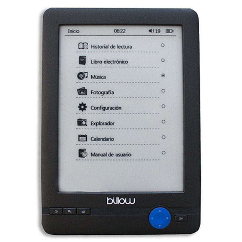 E-BOOK BILLOW E-INK 6 TOUCH 4GB GRIS