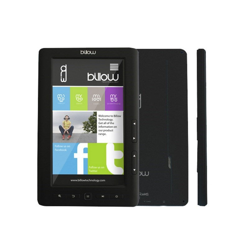 E-BOOK BILLOW COLOR BOOK 7 4GB TFT BLACK