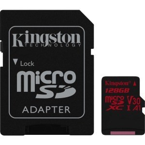 MEMORIA MICRO SD 128GB KINGSTON CANVAS REACT