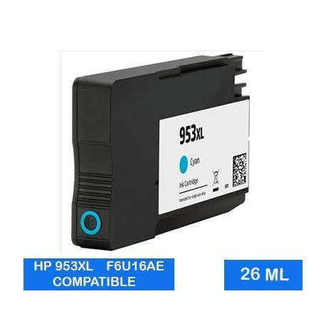CARTUCHO COMPATIBLE CON HP 953XL F6U16AE CIAN 26