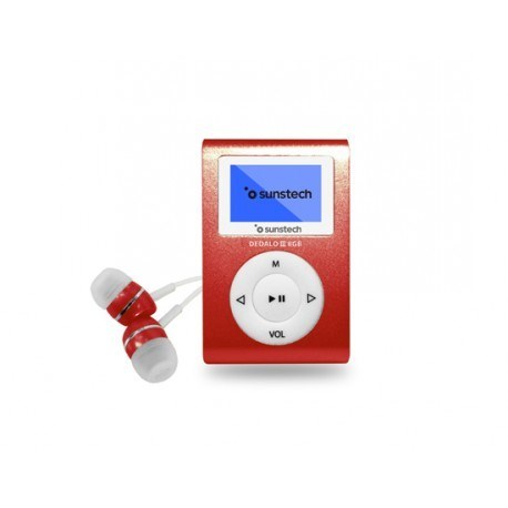 MP3 SUNSTECH DEDALOIII 8GB ROJO