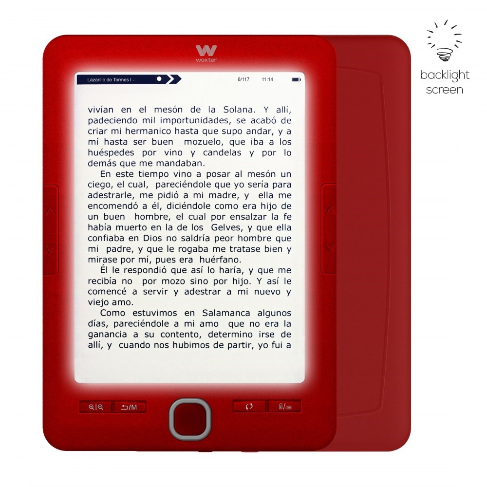 E-BOOK WOXTER SCRIBA 195 PAPERLIGHT RED