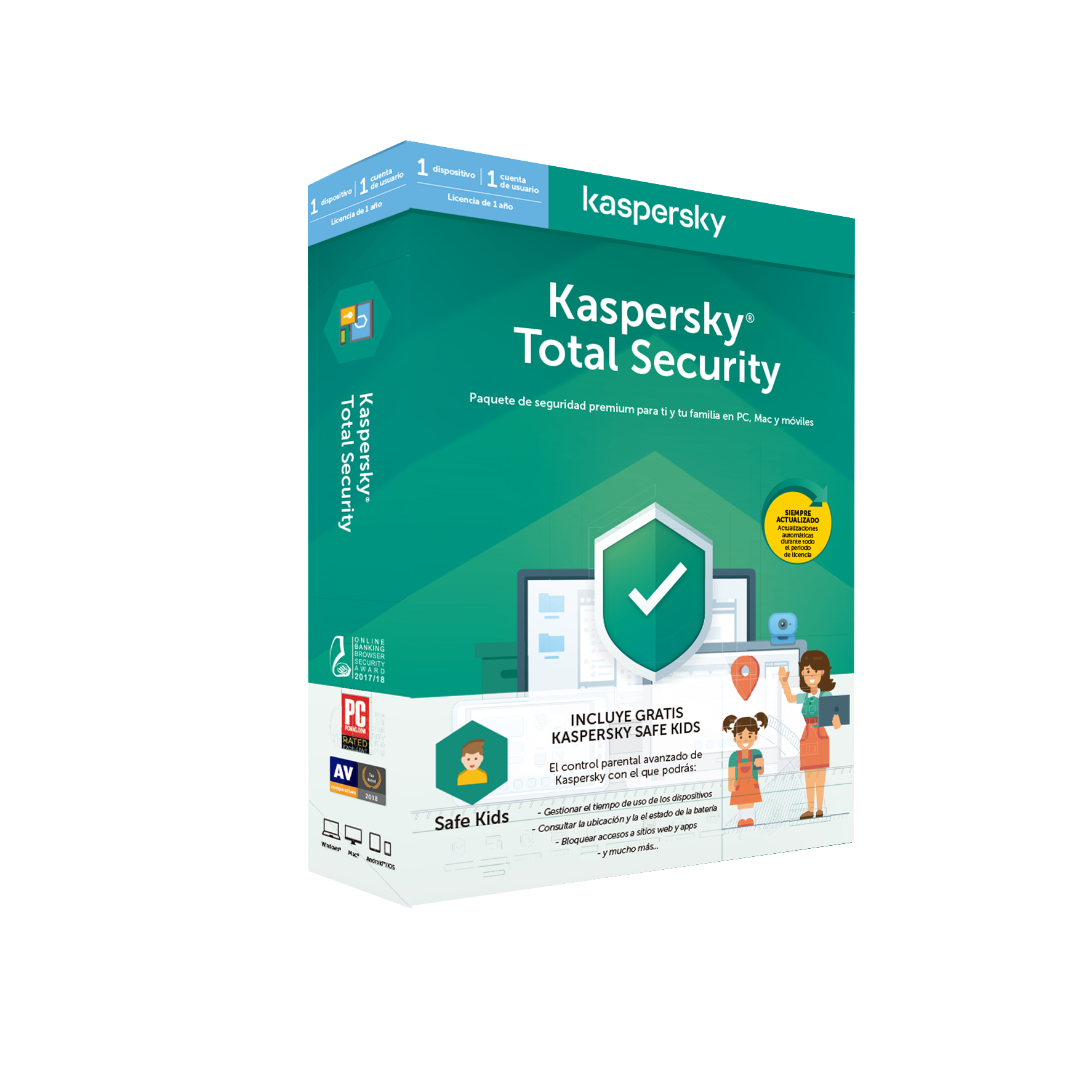 ANTIVIRUS KASPERKSY 2020 1 US TOTAL SECURITY