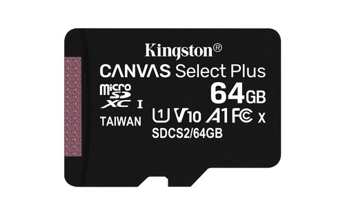 MEMORIA MICRO SD 64GB KINGSTON CLASE 10 UHS-I