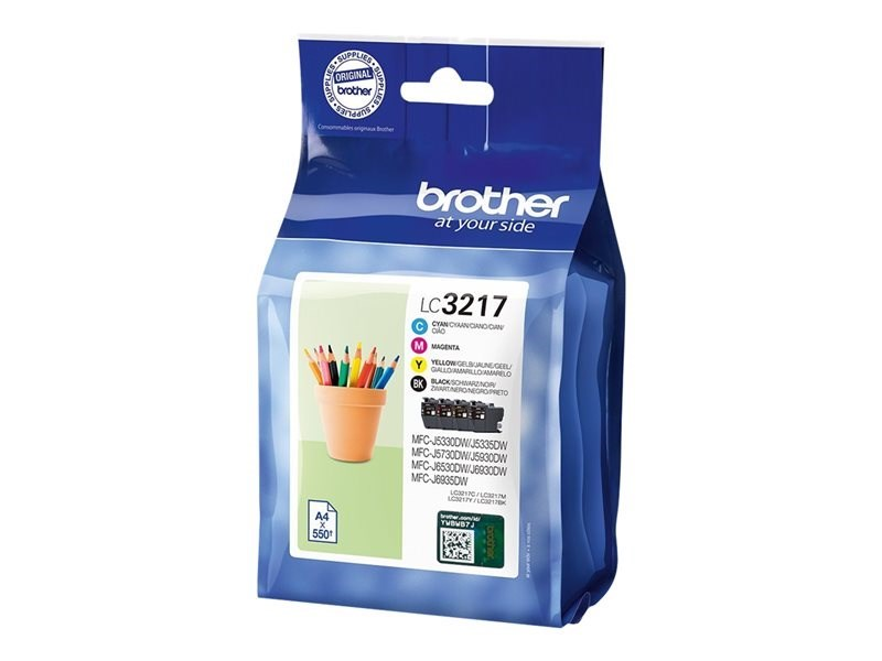CARTUCHO BROTHER LC3217VAL PACK 4 COLORES