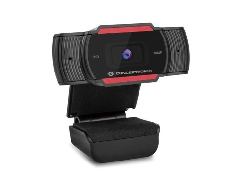 WEBCAM FHD CONCEPTRONIC USB 1080P FOCO FIJO