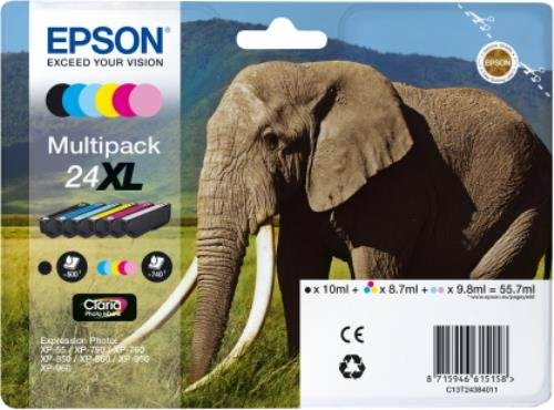 Cartucho Epson 6 Multipack Colores 24xl Photo Hd