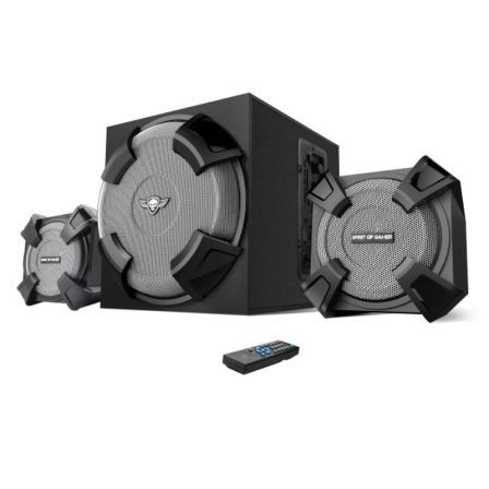 ALTAVOCES GAMING SPIRIT OF GAMER SGS 2.1 - 45W RMS - FM - ENTRADA USB/SD - JACK 3.5 - MANDO INALÁMBRICO