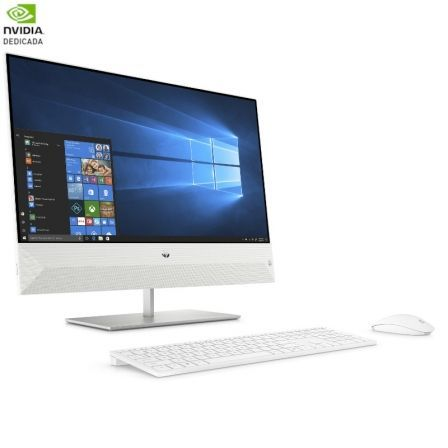 PC ALL IN ONE HP PAVILION 24-XA0906NS - I7-8700T 2.4GHZ - 8GB - 1TB+128GB SSD - GFORCE MX130 2GB - 23.8/60.45CM FHD - TEC+RATON - W10 - BLANCO NIEVE