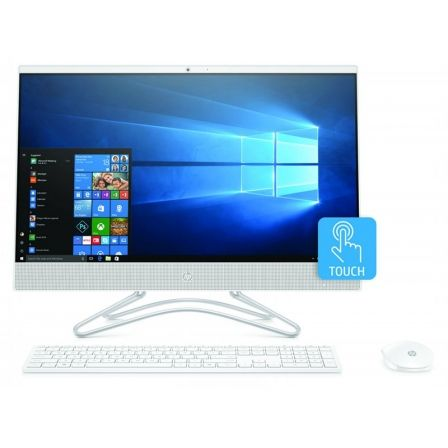 PC ALL IN ONE HP 24-F0035NS - I3-8130U 2.2GHZ - 8GB - 256GB SSD - 23.8/60.45CM FHD TÁCTIL - WIFI - HDMI - BT - TEC+RATON - NO ODD - W10 - BLANCO NIEV