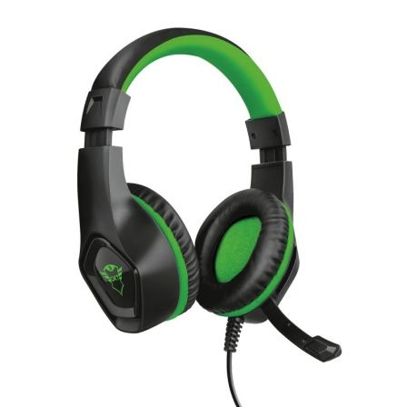 AURICULARES CON MICRÓFONO TRUST GAMING GXT 404G RANA GREEN PARA XBOX ONE - DRIVERS 40MM - MANDO A DISTANCIA INTEGRADO PARA CONTROL VOLUMEN - CABLE 1M