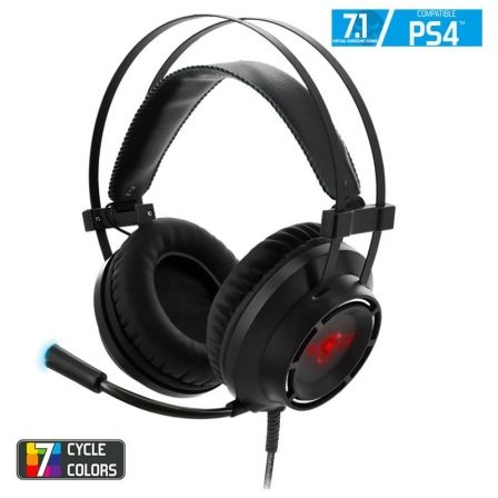AURICULARES CON MICRÓFONO SPIRIT OF GAMER ELITE-H70 PS4 - SONIDO 7.1 - DRIVERS 50MM - CONECTOR USB - CABLE USB 4M - PS4/PC