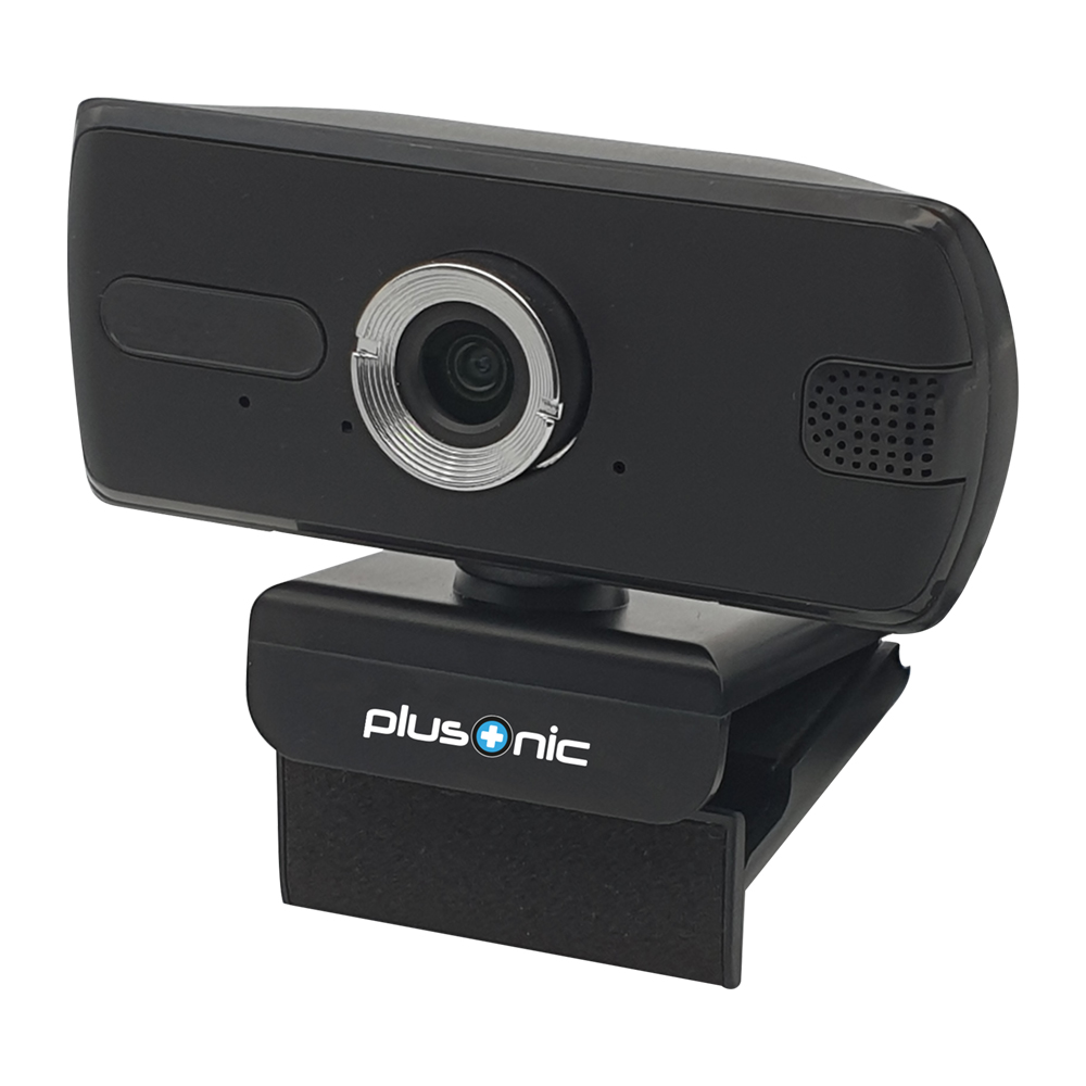 Webcam Plusonic Hd 1080p V2 Negra Pinza 3mp