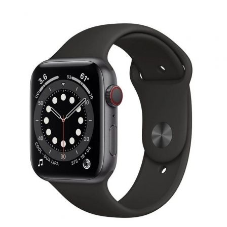 APPLE WATCH S6 44MM GPS CELLULAR CAJA ALUMINIO GRIS ESPACIAL CON CORREA NEGRA SPORT BAND - MG2E3TY/A
