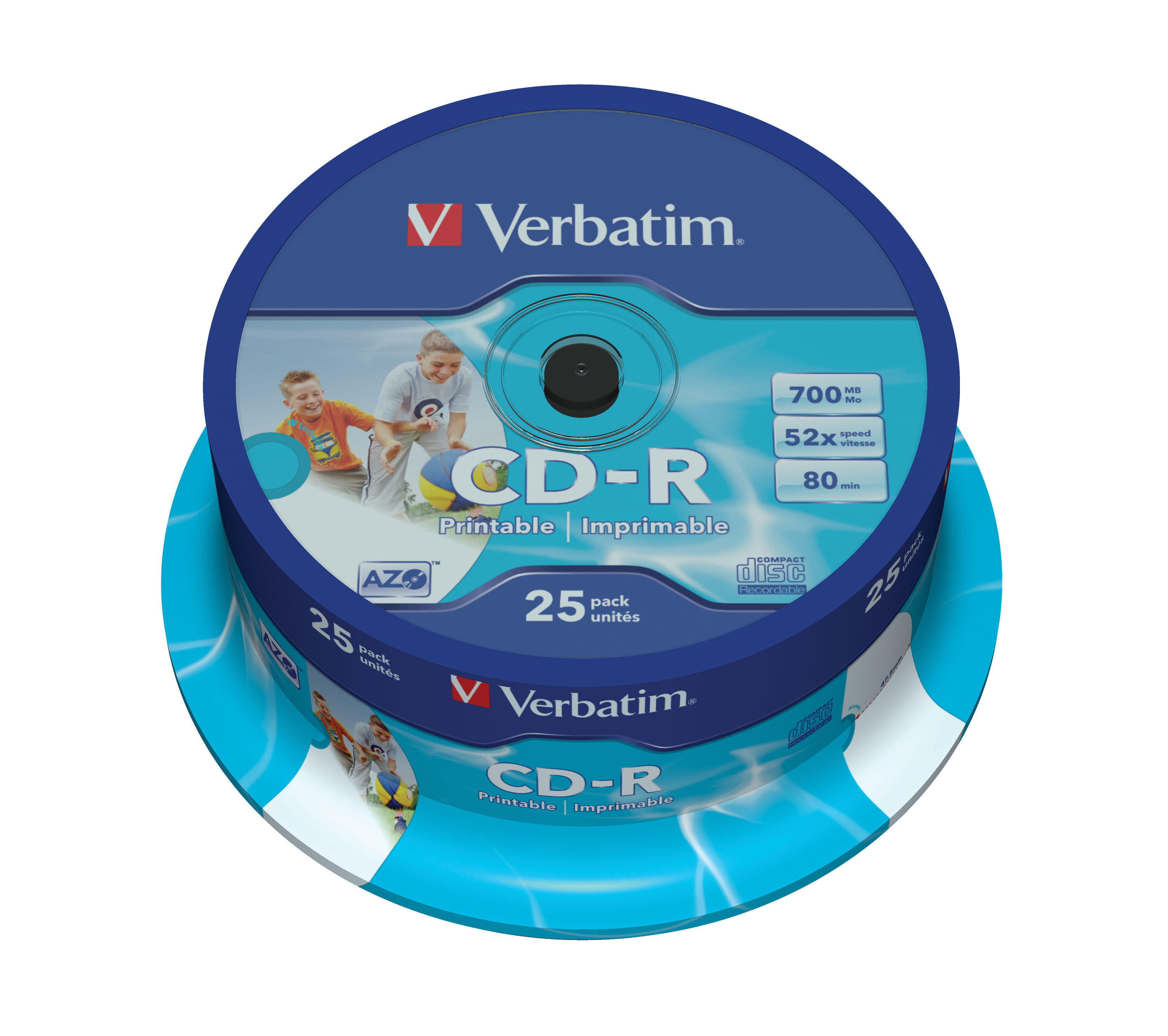 Cd-R Verbatim 52x 700mb Imprimible Pack 25u