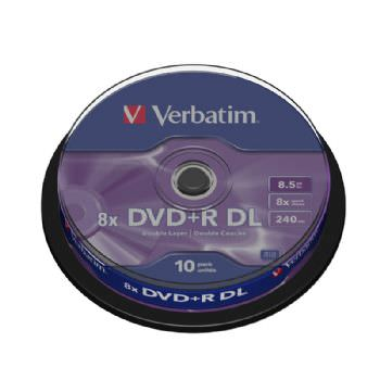 Dvd+R Verbatim Double Layer 8x 8.5gb Tarrina 10