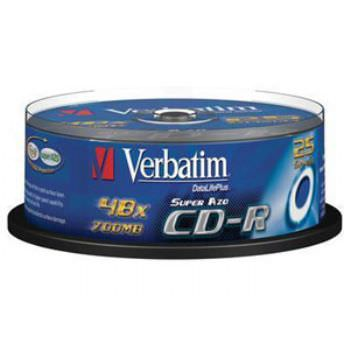 Cd-R 700mb Verbatim 52x Tarrina 25u